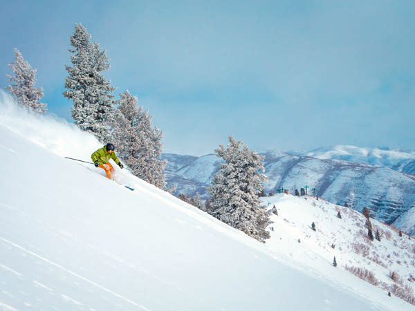 Skier at Sundance Mountain Resort