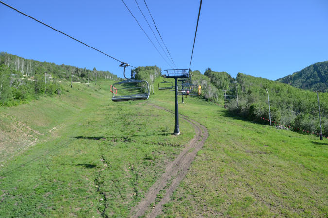 Scenic view from Chairlift