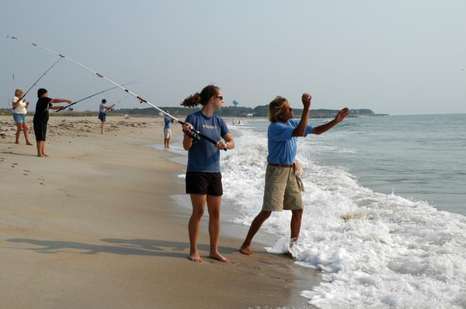 Surf fishing lessons