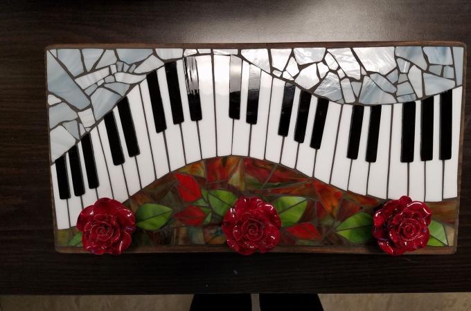 Piano mosaic by Marlene