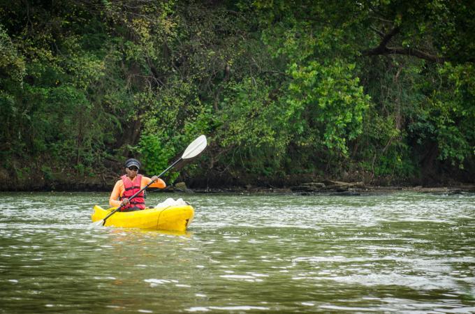 El Camino Real Paddling Trail Kayaker
