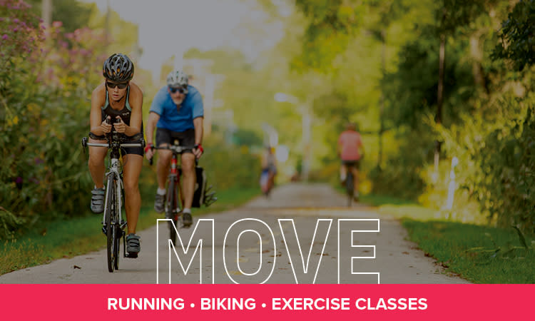 Move: Running, Biking, Exercise Classes