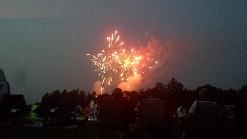 Fireworks at Pioneer Park