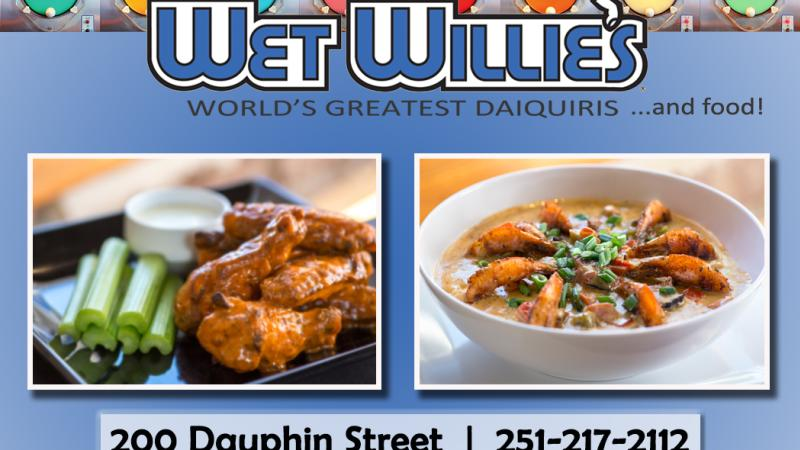 Wet Willie's food