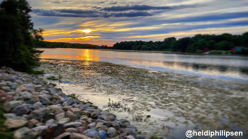 Sunset over the Huron River