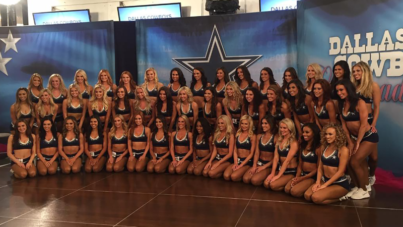 Dallas Cowboys Cheerleaders 2019 Final Round of Auditions squad photo