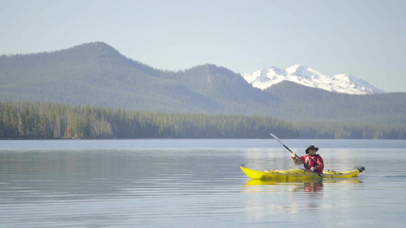 Kayaking Waldo Lake by Michael Sherman