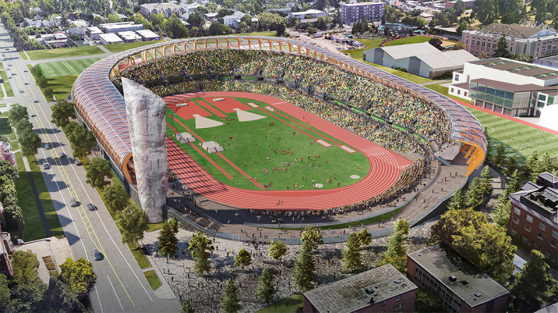 Rendering of Hayward Field at University of Oregon