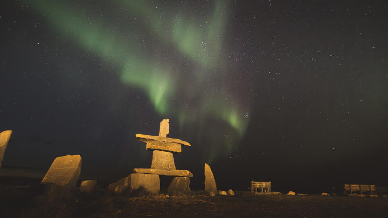 Northern Lights - Churchill - Manitoba Virtual Background