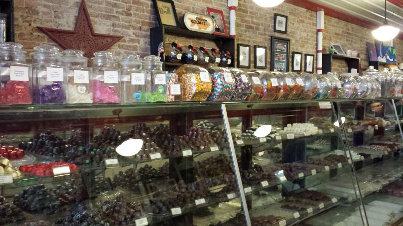 Customers choose their favorites at the Martinsville Candy Kitchen.