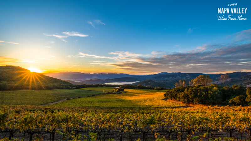 Napa Valley Sunset Zoom Background
