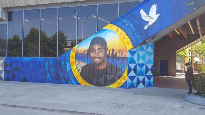 Oscar Grant mural in Fruitvale