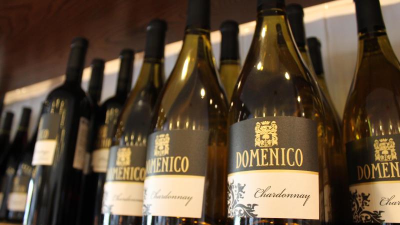 Wine bottles at Domenico