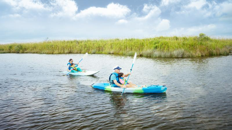 Kayaking in Sandbridge