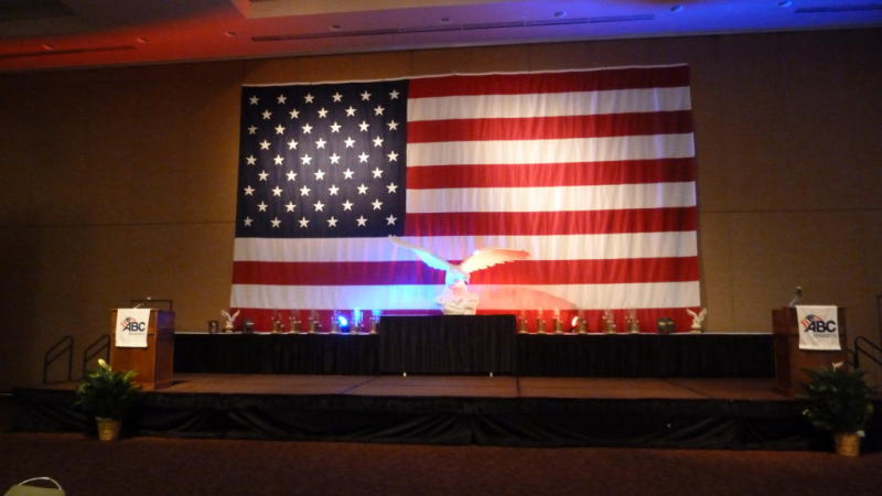Need a giant American flag for your meeting or event? The VBC has got you covered!