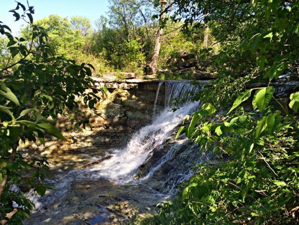 Chase County State Lake Waterfall