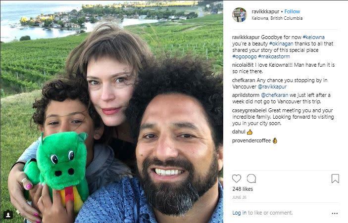 Photo of Ravi Kapur's Instagram