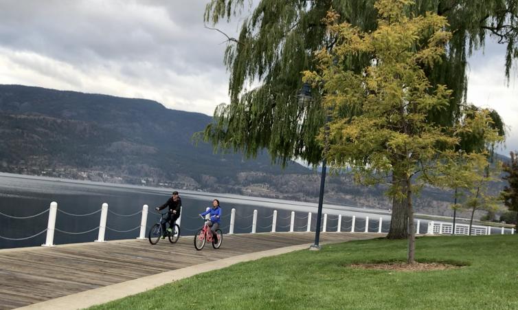 Waterfront Boardwalk Biking