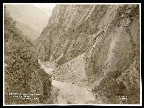 an historic photograph of Keystone Canyon