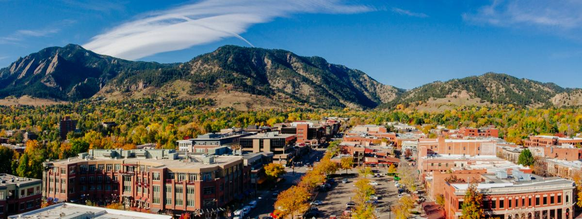 Fall Panorama of Boulder
