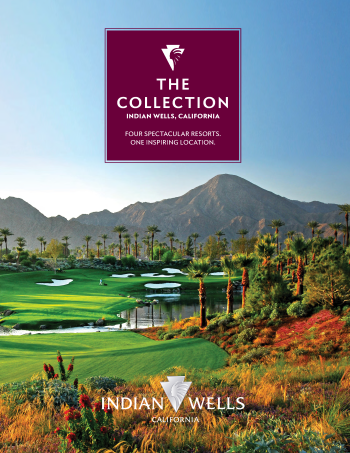 Brochure cover with photo of Indian Wells Golf Resort