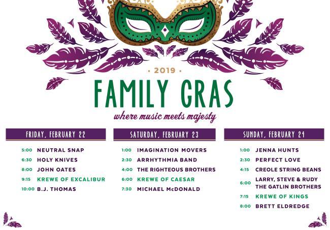 Family Gras Lineup