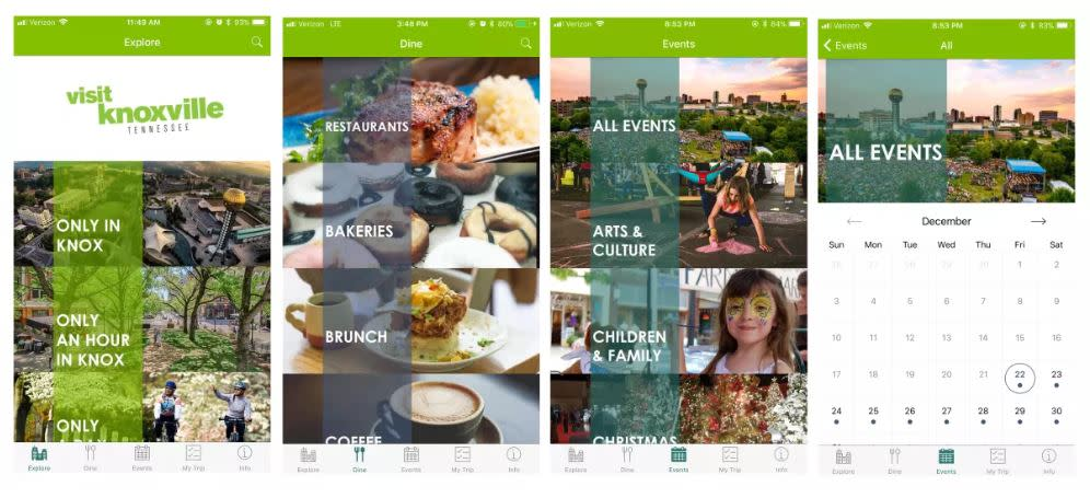 Visit Knoxville app