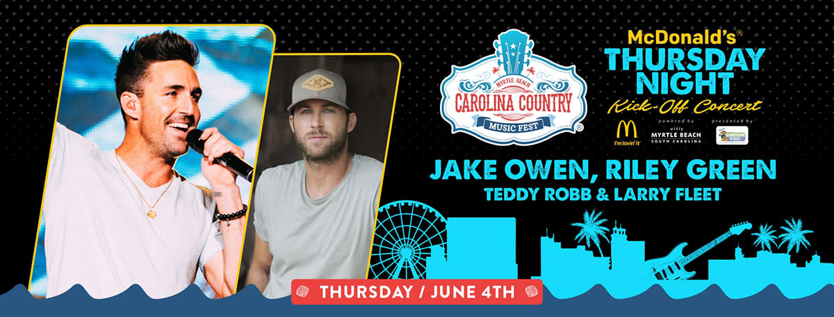 CCMF 2020 Thursday Night Kickoff with Jake Owen, Riley Green, Teddy Robb and Larry Fleet