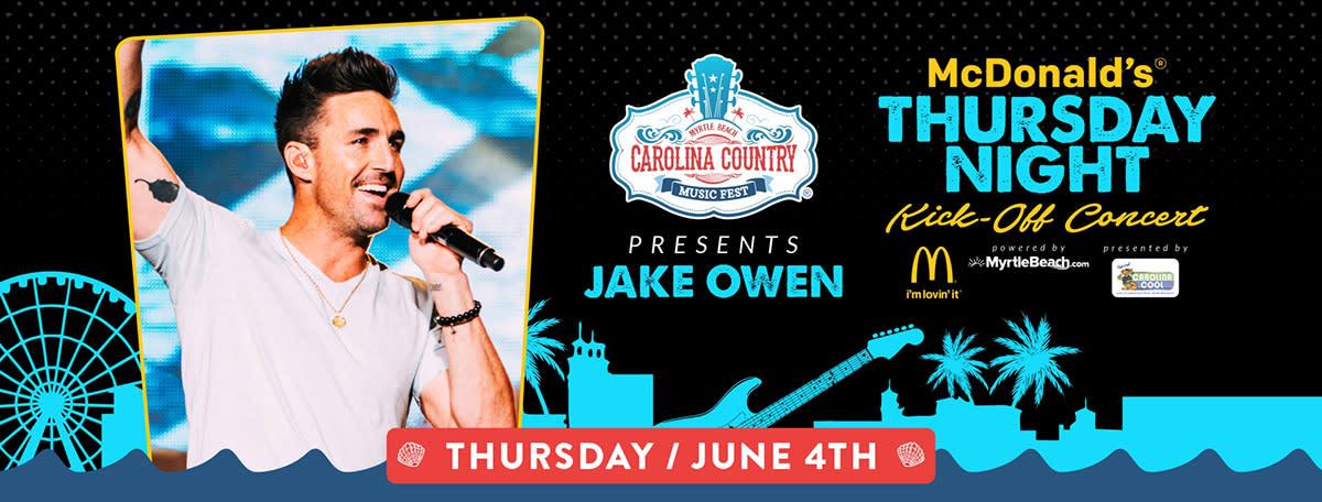 CCMF 2020 Jake Owen McDonald's Thursday Night Kick Off Concert