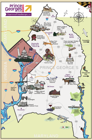 Prince George County Illustrated Map
