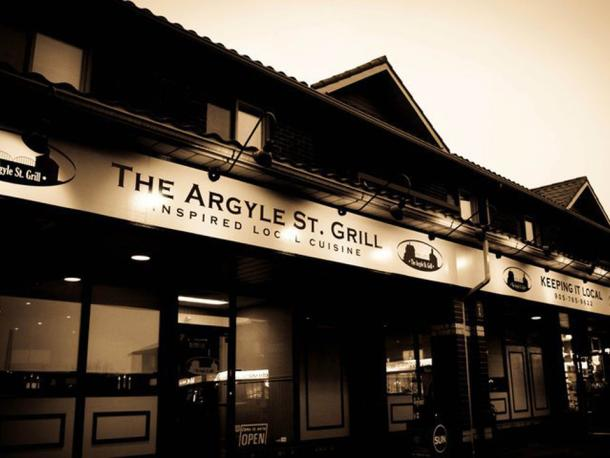 Store front of The Argyle St. Grill