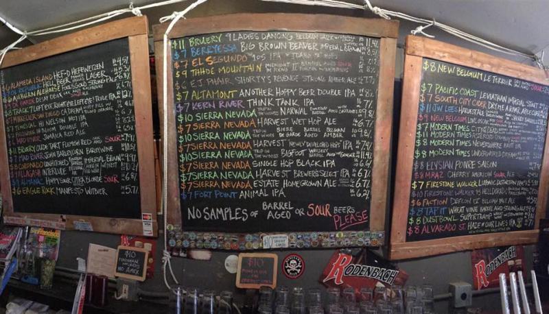 Beer Revolution menu