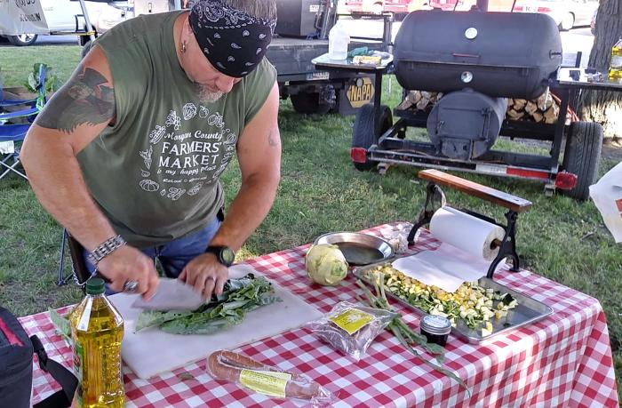 Sample freshly grilled produce on select days at the Morgan County Farmers Market.
