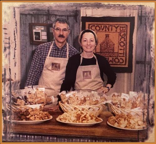 Biscotti stand history