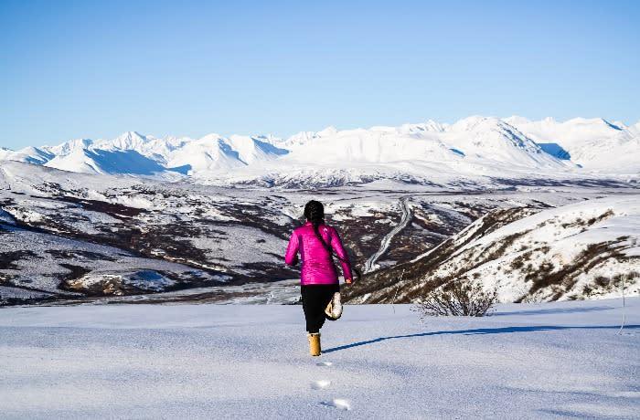 Solstice - running in snow