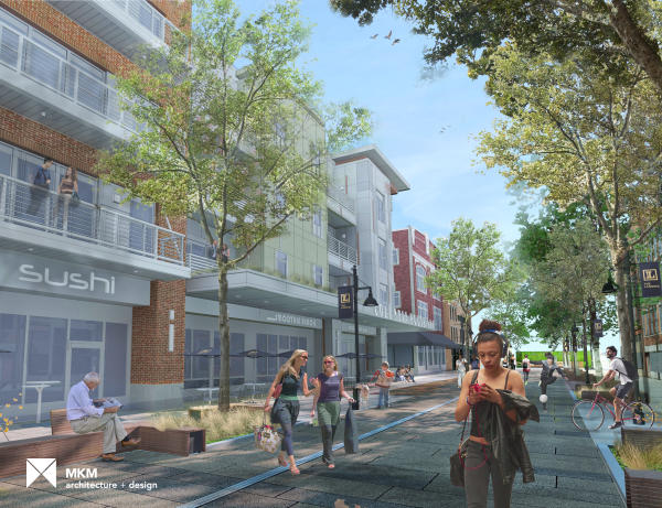 Rendering of The Landing in Downtown Fort Wayne, Indiana