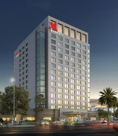 Exterior Rendering - Marriott - Irvine Spectrum