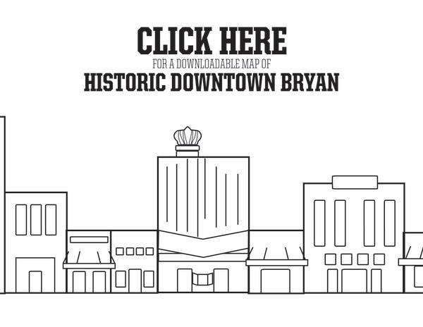 Downtown Bryan Map Button