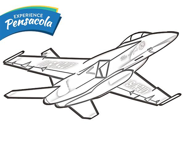 Blue Angels Coloring Sheet