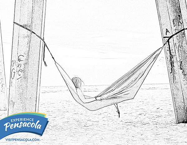 Hammock under Pensacola Beach Pier