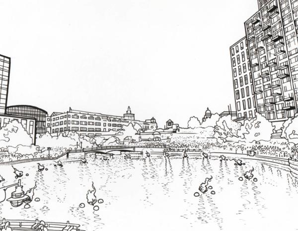 Providence coloring page - WaterPlace Park
