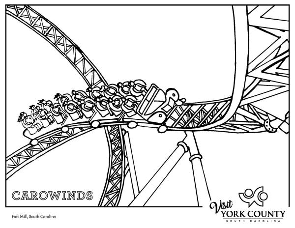 Carowinds Coloring Page