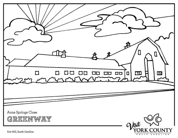 Dairy Barn Coloring Page