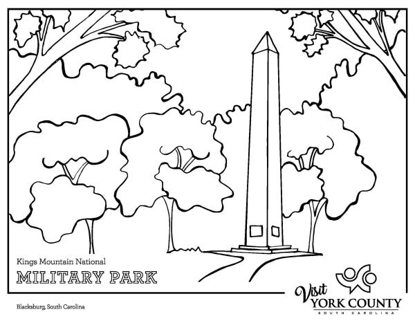 Kings Mountain Coloring page