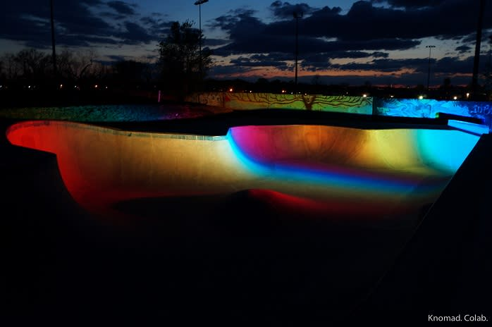 Reiz Menzer Memorial Skatepark at Night in York, PA