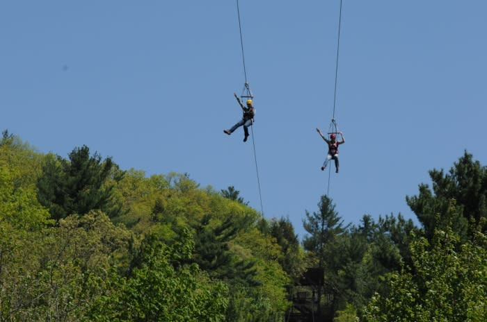 Zip Lines in the Pocono Mountains