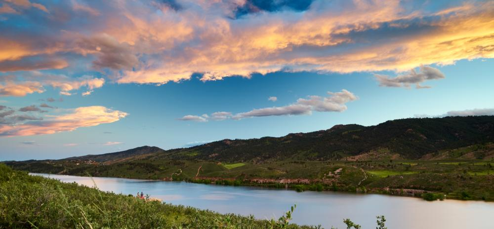Horsetooth Reservoir  outside of Steamboat Springs, Colorado