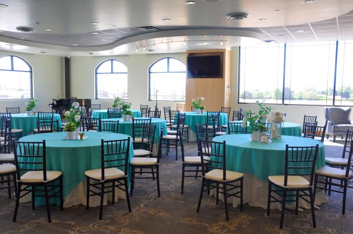 The event room at Blue Lemon
