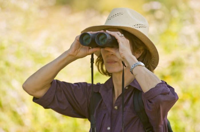 Woman Bird Watching Irvine Ranch Conservancy