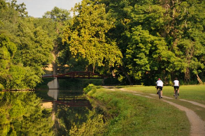 Biking along the Delaware Canal Towpath